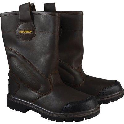 Roughneck Mens Hurricane Rigger Safety Boots Dark Brown