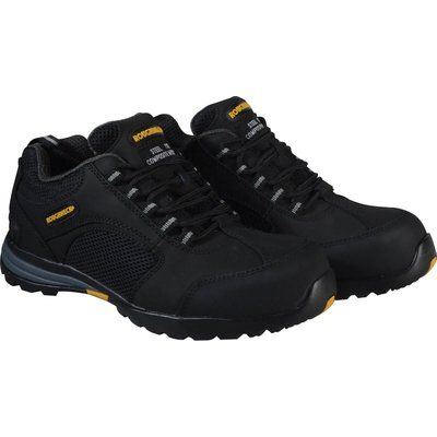 Roughneck Mens Stealth Safety Trainers Black