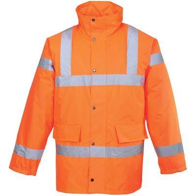 Oxford Weave 300D Class 3 Hi Vis Traffic Jacket Orange 4XL