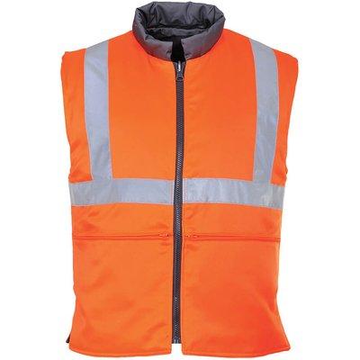 Portwest Reversible Hi Vis Bodywarmer Orange 3XL