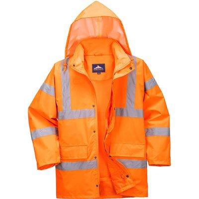 Oxford Weave 300D Class 3 Breathable Hi Vis Jacket Orange XL