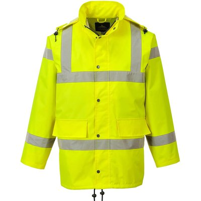 Oxford Weave 300D Class 3 Breathable Hi Vis Jacket Yellow S