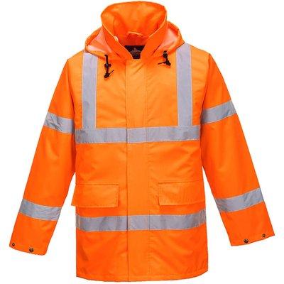 Oxford Weave 150D Class 3 Lite Hi Vis Traffiic Jacket Orange 3XL