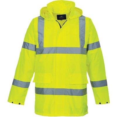 Oxford Weave 150D Class 3 Lite Hi Vis Traffiic Jacket Yellow M