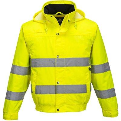 Oxford Weave 150D Class 3 Hi Vis Bomber Jacket Yellow L