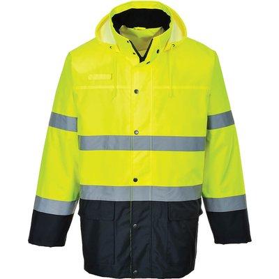 Oxford Weave 150D Class 3 Lite Hi Vis 2-Tone Traffic Jacket Yellow / Navy L