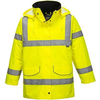 Oxford Weave 300D Womens Class 3 Hi Vis Traffic Jacket Yellow M