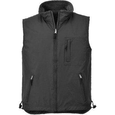 Portwest Mens Fleece Lined Reversible Bodywarmer Black M