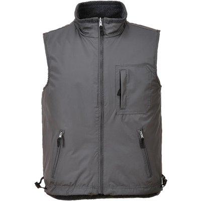 Portwest Mens Fleece Lined Reversible Bodywarmer Grey L