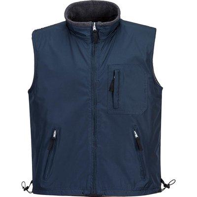 Portwest Mens Fleece Lined Reversible Bodywarmer Navy M