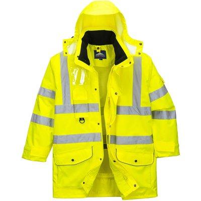 Oxford Weave 300D Class 3 Hi Vis 7-in-1 Traffic Jacket Yellow 6XL