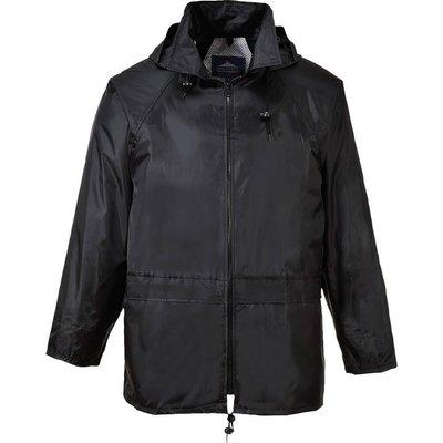 Classic Mens Rain Jacket Black XS