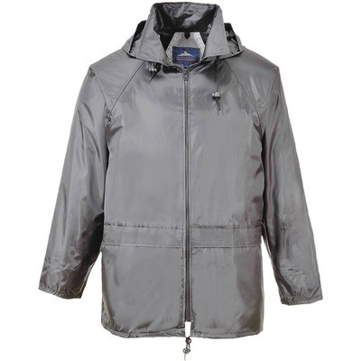 Classic Mens Rain Jacket Grey S