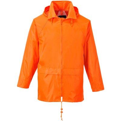 Classic Mens Rain Jacket Orange S