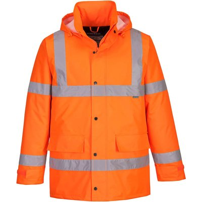 Oxford Weave 300D Class 3 Hi Vis Traffic Jacket Orange XS