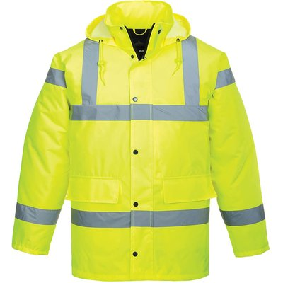 Oxford Weave 300D Class 3 Hi Vis Traffic Jacket Yellow 2XS