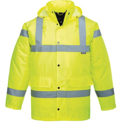 Oxford Weave 300D Class 3 Hi Vis Breathable Jacket Yellow 3XL
