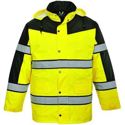 Oxford Weave 300D Class 3 Two Tone Hi Vis Jacket Yellow 3XL