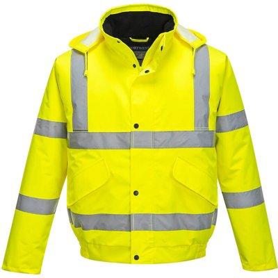 Oxford Weave 300D Class 3 Hi Vis Bomber Jacket Yellow 6XL