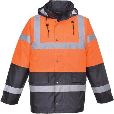 Oxford Weave 300D Class 3 Hi Vis Two Tone Traffic Jacket Orange S