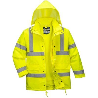 Oxford Weave 300D Class 3 Hi Vis 4-in1 Traffic Jacket Yellow 4XL