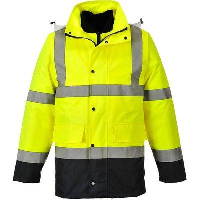 Oxford Weave 300D Class 3 Hi Vis 4-in-1 Traffic Jacket Yellow / Navy 3XL