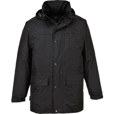 Portwest Mens Oban Fleece Lined Waterproof Jacket Black XL
