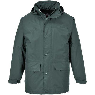 Portwest Mens Oban Fleece Lined Waterproof Jacket Forest Green S