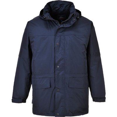 Portwest Mens Oban Fleece Lined Waterproof Jacket Navy XS