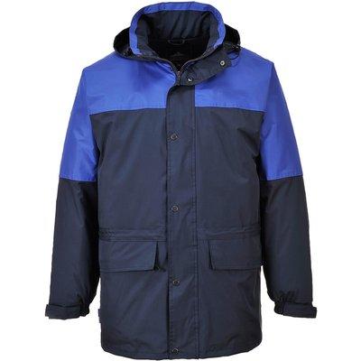 Portwest Mens Oban Fleece Lined Waterproof Jacket Navy / Royal Blue M