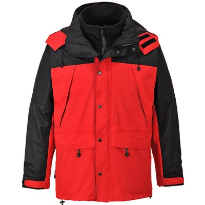Orkney Mens 3-in-1 Breathable Jacket Red M