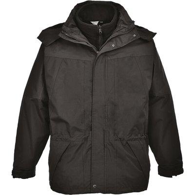 Aviemore Mens 3-in-1 Waterproof Jacket Black L