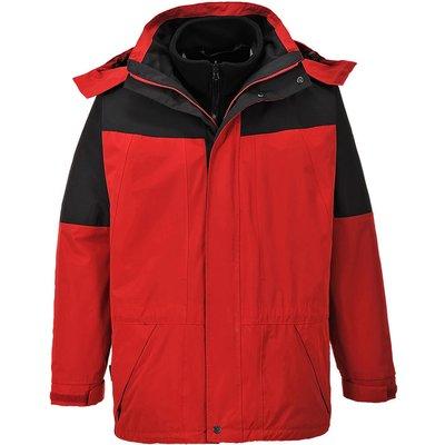 Aviemore Mens 3-in-1 Waterproof Jacket Red L