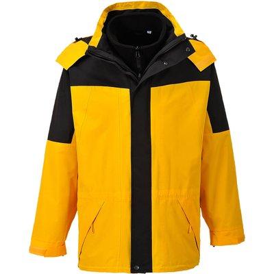 Aviemore Mens 3-in-1 Waterproof Jacket Yellow 3XL