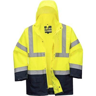 Essential 5 in 1 Hi Vis Jacket Yellow / Navy XS