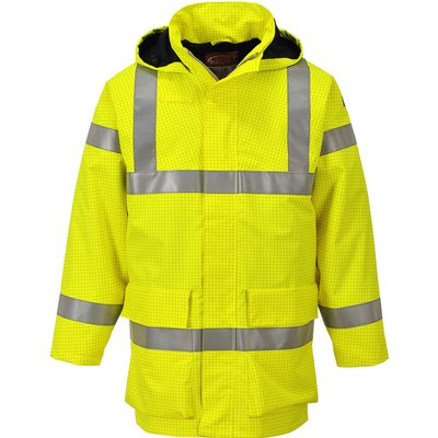 Biz Flame Hi Vis Flame Resistant Rain Multi Lite Jacket Yellow S