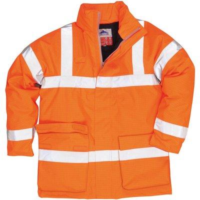 Biz Flame Hi Vis Flame Resistant Rain Jacket Orange 5XL