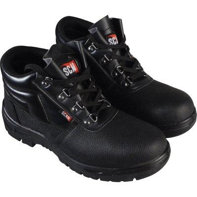 Scan Mens Dual Density Chukka Safety Boots Black