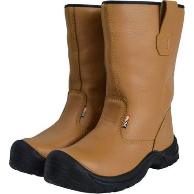 Scan Mens Texas Rigger Safety Boots Tan