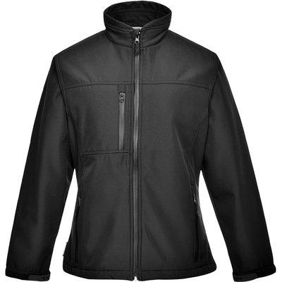 Portwest Ladies Charlotte Softshell Jacket Black XS