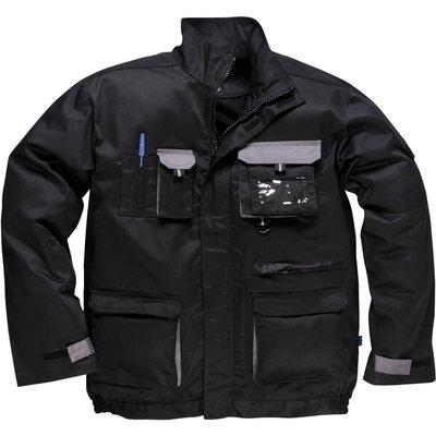 Portwest Mens Texo Contrast Work Jacket Black L