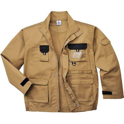 Portwest Mens Texo Contrast Work Jacket Khaki L