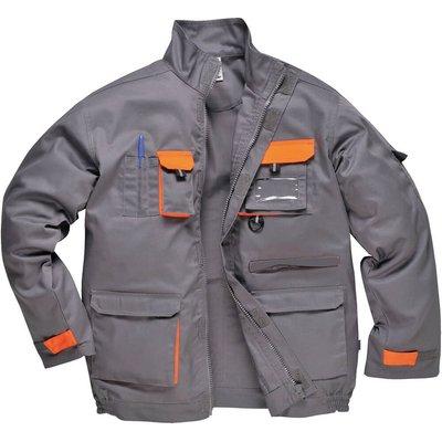 Portwest Mens Texo Contrast Work Jacket Grey 4XL