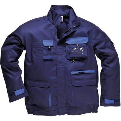 Portwest Mens Texo Contrast Work Jacket Navy 4XL