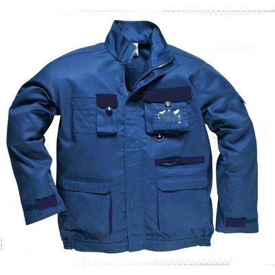 Portwest Mens Texo Contrast Work Jacket Royal Blue L