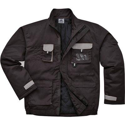 Portwest Mens Texo Contrast Padded Jacket Black 2XL