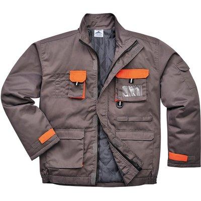 Portwest Mens Texo Contrast Padded Jacket Grey M