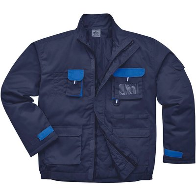 Portwest Mens Texo Contrast Padded Jacket Navy S