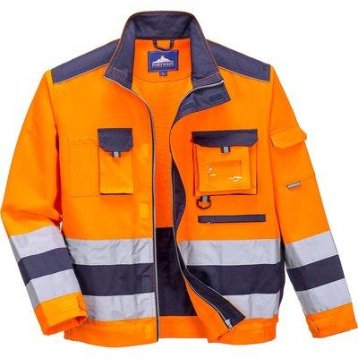 Portwest Lille Hi Vis Jacket Orange / Navy L