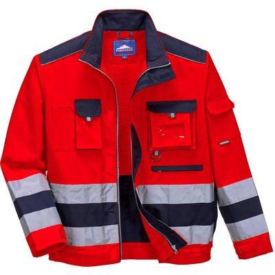 Portwest Lille Hi Vis Jacket Red / Navy L
